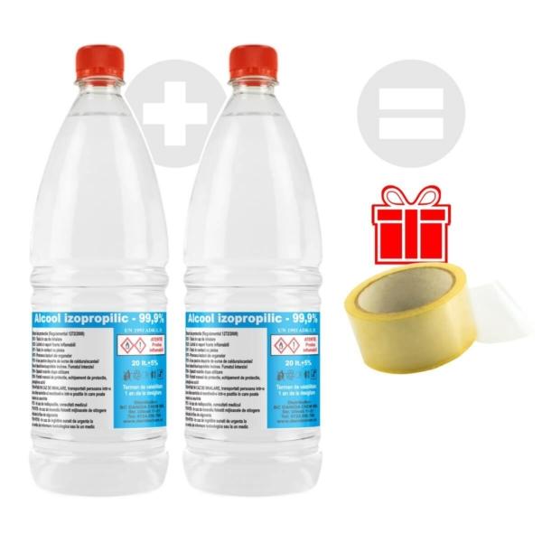 Pacheta promotional alcool izopropilic cadou banda scotch danida chem